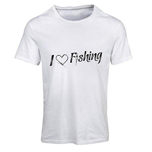 Camiseta Mujer Cotizaciones de Pesca, Traje de Vacaciones, Regalo de Pescador - Me Encanta Pescar (XX-Large Blanco...