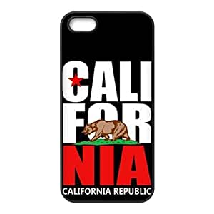 california republic t shirt Phone high quality Case for iPhone 5S Case