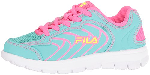 Pictures of Fila Girls' Star Runner Skate Shoe Aruba 3SR21036 Aruba Blue/Knockout Pink/Safety Yellow 5