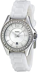 Fossil Women's ES2878 Riley Silver Dial Watch