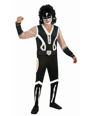 [Rubies Costume Co Men's Kiss Catman Costume Black/Yellow Medium] (Kiss Catman Makeup)