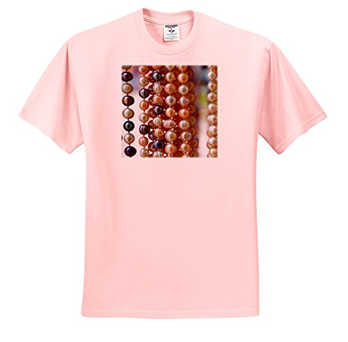 3dRose Danita Delimont - Markets - Macedonia, Ohrid and Lake Ohrid. Strands Of Pearl-Like Beads. - T-Shirts - Light Pink Infant Lap-Shoulder Tee (18M) (TS_257962_71) ()