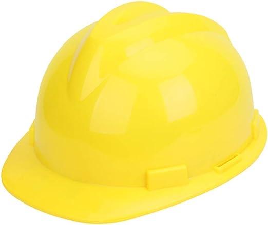 Yloty Casco de Seguridad Amarillo ABS, Casco Casco de Trabajador de la construcción Industrial Trinquete Ajustable y Banda de Sudor para el Trabajo de Escalada Steeplejack: Amazon.es: Hogar