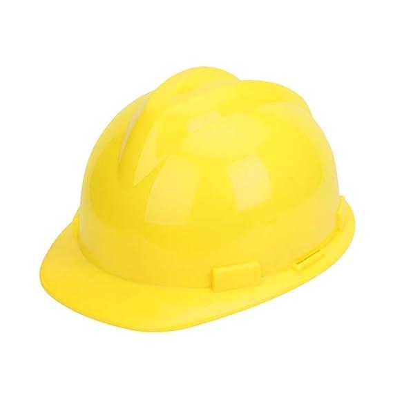 Yloty Casco de Seguridad Amarillo ABS, Casco Casco de Trabajador ...