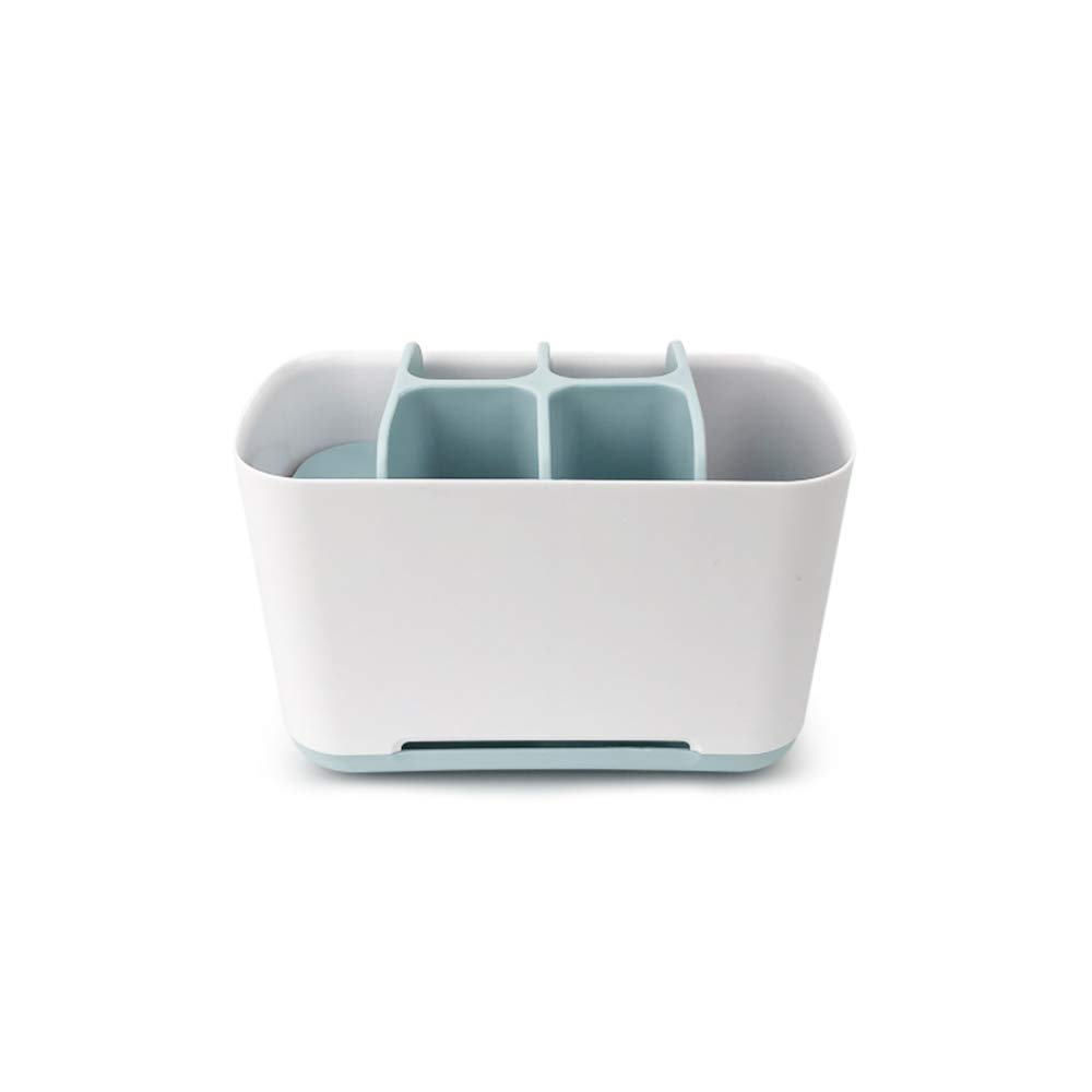 WDDH Electric Toothbrush Holder, Bathroom Storage Organizer Stand Rack -Toothpaste Holder Stand Multi-Functional 6 Slots for Toothbrush, Toothpaste, Cleanser, Comb, Razor