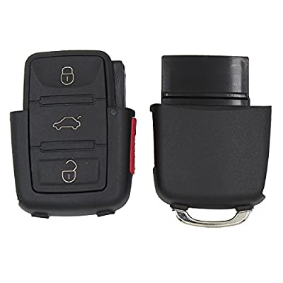 Remote Key Fob Case for VW Volkswagen Jetta Beetle 4 Buttons Keyless Remote Key Cover: Car Electronics