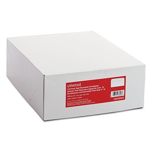 - Universal Peel Seal Strip Business Envelope, #10, White, 500/Box (36003)