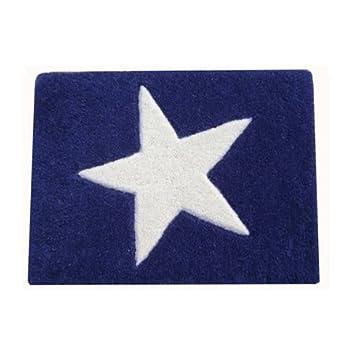 Kinderteppich hellblau sterne  Lorena Canals Kinderteppich STERN, Teppich mit Stern in dunkelblau ...