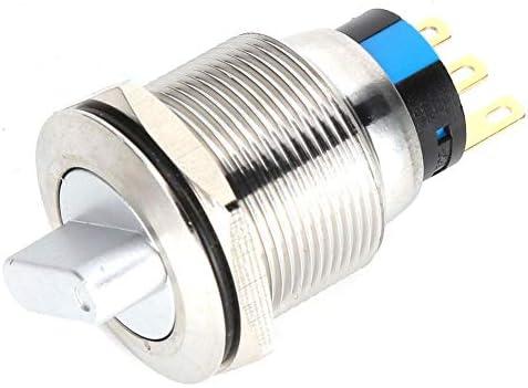 スイッチ、20PCS BEM-22-21 2ポジションセレクターノブスイッチ真鍮ニッケルメッキセルフロック産業用制御機器車の改造機械製造