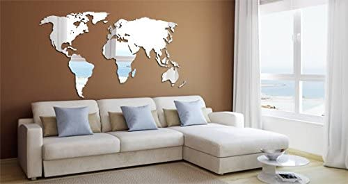 Dezign with a Z World Map Acrylic Wall Mirror 87×47