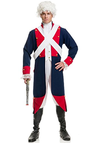 [8eighteen Independence Day Revolutionary War Soldier Adult Costume] (Zombie Soldier Costumes)