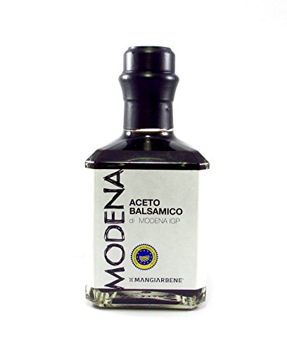 Barrel Aged Balsamic Vinegar Modena - Aceto Balsamico di Modena IGP - Modena Balsamic Vinegar: Barrel Aged, Gourmet - By Serendipity Life Certified Product PGI from Italy (8.4 oz) (1 Pack) 1 COLOR AND TEXTURE Il Aceto balsamico di Modena IGP is glossy, viscous, velvety, dark brown, achieving beautiful balance and depth of flavor of complex sweetness that explodes in the mouth with notes of fig, molasses, cherry, chocolate, or prune. Just a few drops of this black gold produce an enveloping aroma and a taste that is sweet and sour in equal measures. This makes an ideal addition to salads, raw vegetables and grilled meat. USE THIS PREMIUM ITALIAN CONDIMENTO for balsamic insalata, mesclun the go-to balsamic vinager combined with extra virgin olive oil for salad dressing, with just the perfect touch of acidity and sweetness for a perfect taste. A great enhancer for creams or stews, ideal as a marinade. Perfect for cooking, because it can reduce. Perfect to make high quality desserts, use with ice cream or berries. GOURMET: An everyday ingredient with impeccable taste that turns any meal, appetizer, h'ors d'oeuvres, or dessert from ordinary to extraordinary. This thick balsamic with a sweet and tangy flavor livens up a simple, healthy dinners and truly shines. Makes a great gift for the aspiring chef in your life.