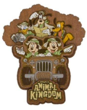 Disney Parks Magnet - Animal Kingdom Fab 5 Safari - Wooden
