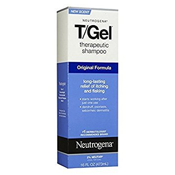 Neutrogena T/Gel Therapeutic Shampoo Original Formula 16 oz (Packs of 2) by Neutrogena