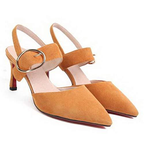 1TO9 Inconnu 5 Orange Compensées Sandales Femme MJS03527 Orange 36 EU qdadCwB1