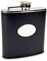Investment 6oz Black Engravable Flask, Free Personalization cheapest