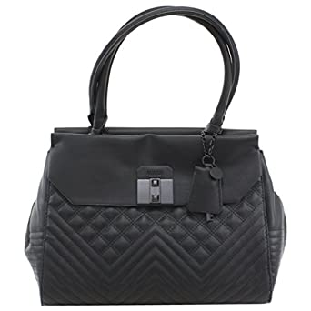 Amazon.com: GUESS Rebel Roma Satchel (Black): Clothing