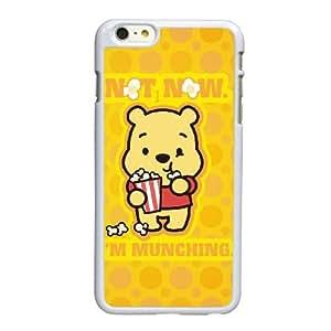 G0S18 Winnie the Pooh R9Q4HR funda iPhone 6 Plus 5.5 pufunda LGadas funda caja del teléfono celular cubre WX5PQC5CQ blanco