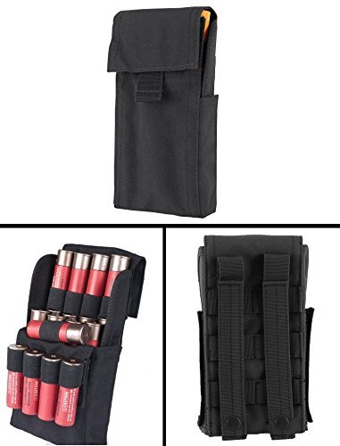 - Ultimate Arms Gear Tactical Stealth Black Molle 25 Shot Shell Ammunition Ammo Reload Carrier Pouch For 12 Gauge Shotgun Rounds