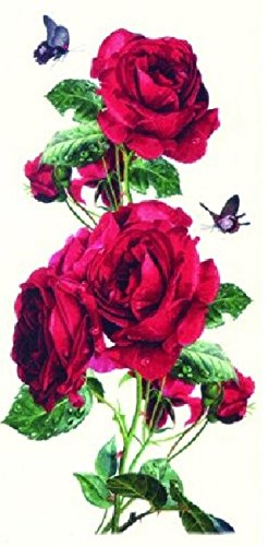 GGSELL Latest hot selling and fashionable design Beautiful and colorful ROSE flowers and butterflies fake temp tatoo sticker for women