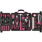 Home Improvement Apollo Hand Tools 71-Piece Household Tool Kit, Pink