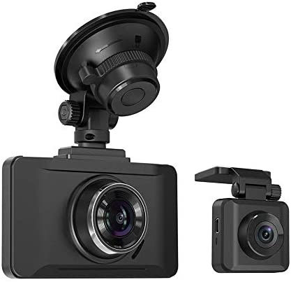 Dual Dash Cams Sony Sensor, TaoTronics 1080P FHD Front and Rear Dash Cam with Night Version, 3in LCD Car Camera Recorder, 140 Wide Angle, G-Sensor, WDR,Parking Mode Renewed