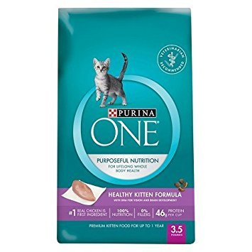 Purina ONE Healthy Kitten Formula Premium Cat Food 3.5 lb. Bag SmartBlend/Purposeful Nutrition by Purina ONE