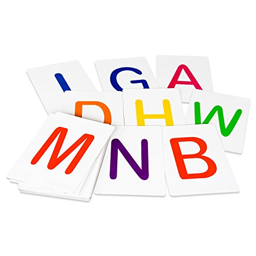 Magnetic Alphabet Flash Cards - 26 Large Uppercase Letters For School Teachers, Parents - Early Learning of Kids, Teenagers and Adults (Toddlers Abc For Flash Cards)