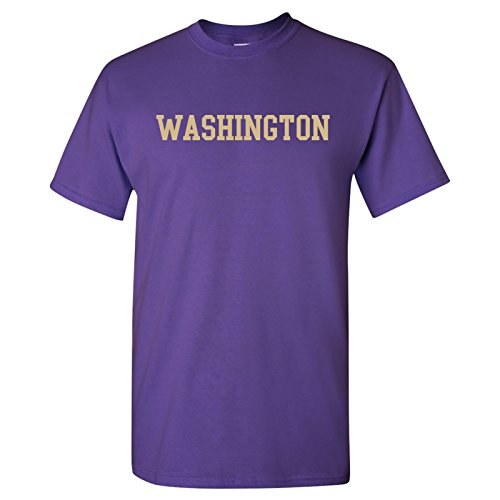 Washington Block - Washington Huskies Block Basic T-Shirt - 2X-Large - Purple