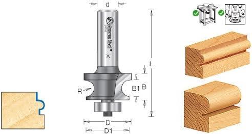 Amana Tool 54164 Carbide Tipped Corner Round 3//16 Radius x 1-1//8 Dia x 11//16 x 1//4