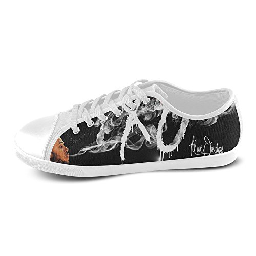 Show-shoes Custom The Weeknd Xo Lace-up Flats Canvas Shoes Soft Comfortable Sneakers for Adult Women (Model016) 8US XL