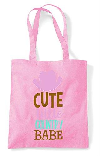 Cute Bag Shopper Light Little Pink Tote Country Babe wXxIwqrZp