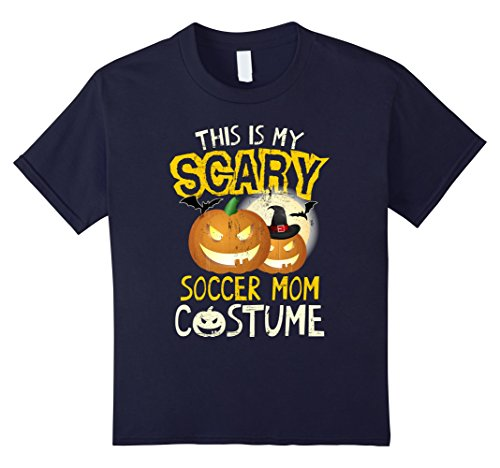 Soccer Mom Halloween Costumes (Kids This Is My Scary Soccer Mom Costume Matching Family T-shirts 12 Navy)
