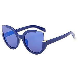 Sinkfish SG80049 Gift Sunglasses for Women,Anti-UV & Fashion - UV400/Blue Frames/Slateblue Lens