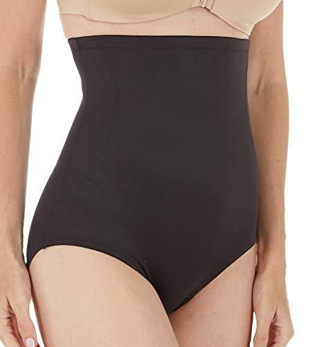 TC Fine Intimates Women's Back Magic Luxury Hi Waist Brief, Black XL