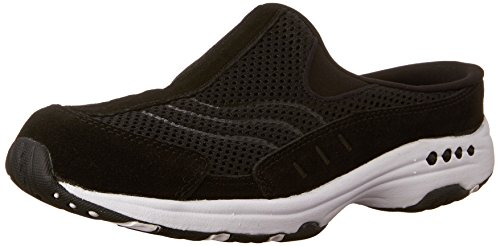 (Easy Spirit Women's Traveltime Mule, Black/White, 9.5 N)