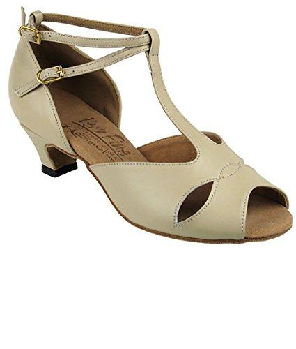 Mycket Fin Balsal Latin Tango Salsa Dansskor För Kvinnor S2803 1,2 Tums Klack + Vikbar Pensel Bunt Beige Läder