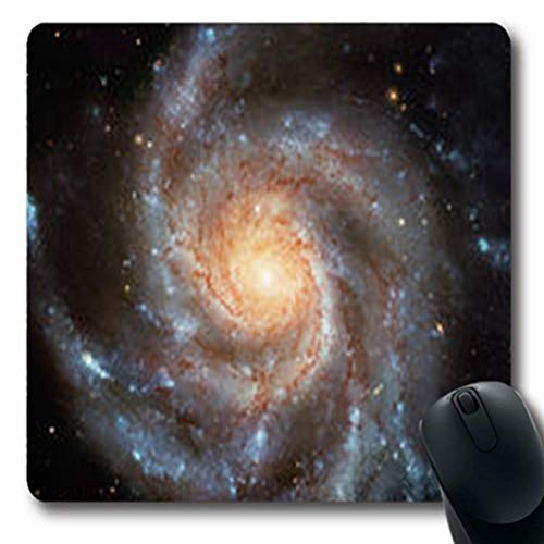 Pandarllin Mousepads One Giant Spiral Disk Stars Retouched Dust Gas Abstract Hubble Nature Starry Oblong Shape 7.9 x 9.5 Inches Oblong Gaming Mouse Pad Non-Slip Rubber Mat