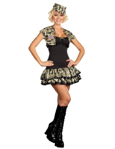 [Soldier Girl Costume - Small - Dress Size 2-6] (Kids Convict Costume Ideas)