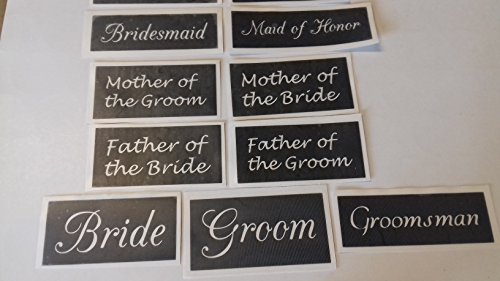 25 x Wedding word stencil mix for etching on glass groom bride father mother maid of honor page boy briedesmaid groomsman (Wedding Stencils)