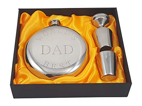 Palm City Products World's Best Dad Flask Gift Set