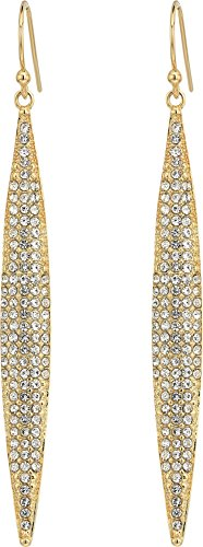 Vince Camuto Women's Crystal Pave Spear Earrings Gold One Size