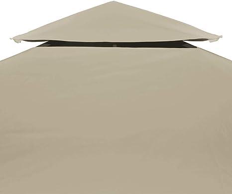 vidaXL Toldo de Cenador de Repuesto Tela Impermeable Beige 3x3 m Techo Pérgola: Amazon.es: Hogar