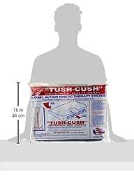 The Original Tush Cush Orthopedic Seat Cushion- Navy Blue- 14\