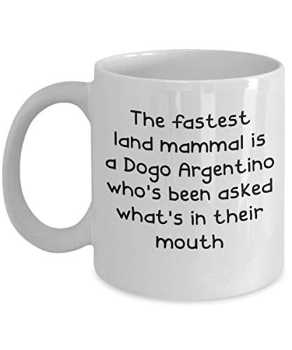 Dogo Argentino Mugs - White 11oz 15oz Ceramic Tea Coffee Cup - Perfect For Travel And Gifts 1