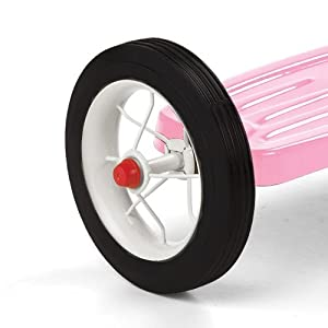 Classic Sturdy Steel Design & Rubber Tires Trike in Pink