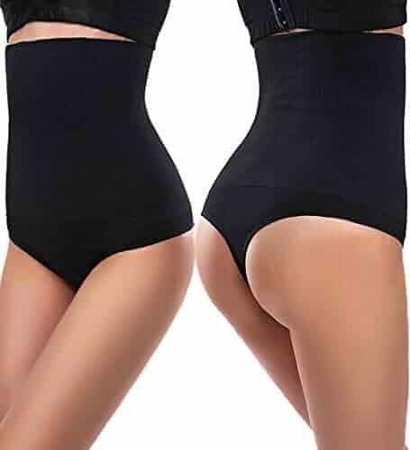 ba9d3fbc92 AtRenee Womens Tummy Control Shapewear Sexy Thong Panty High Waist Cincher  Girdle Slimmer Seamless Body Shaper