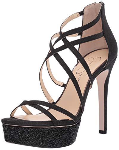 Jessica Simpson Women's ARAYA2 Heeled Sandal, Black, 10 M US (Open Toe Jessica Heels)