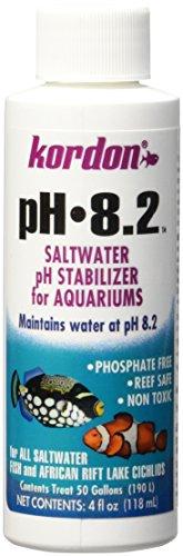 KORDON   #35354   8.2-pH Saltwater Stabilizer for Aquarium, 4-Ounce (Best Ph For Saltwater Aquarium)