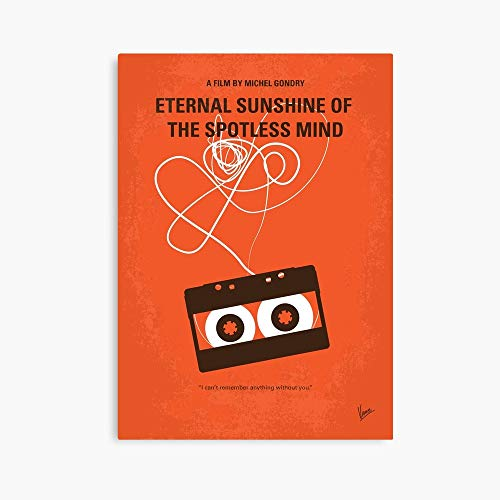Brewsterty No384- Eternal Sunshine of The Spotless Mind Minimal Movie Poster (24' x 36') Deluxe Portrait Canvas Wall Art Decoration Kitchen Office Decor